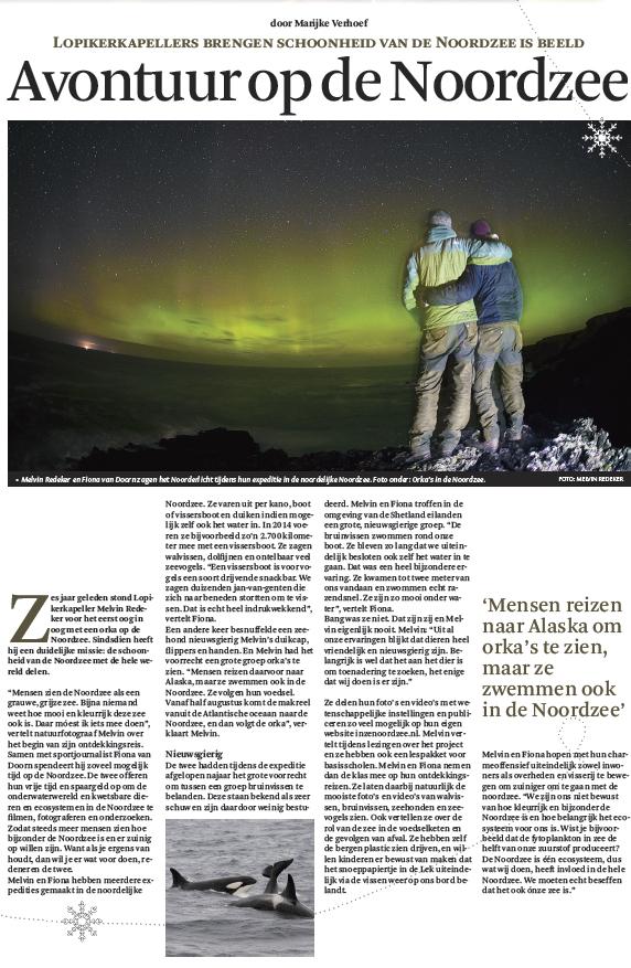 Interview Het Kontakt - Avontuur op de Noordzee