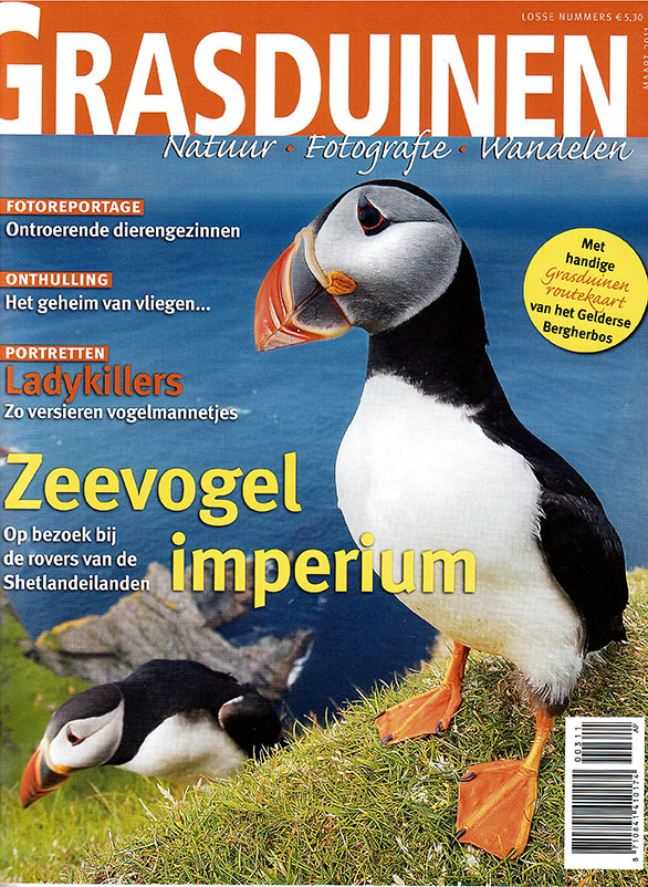 Roots magazine en grasduinen cover - zeevogel imperium