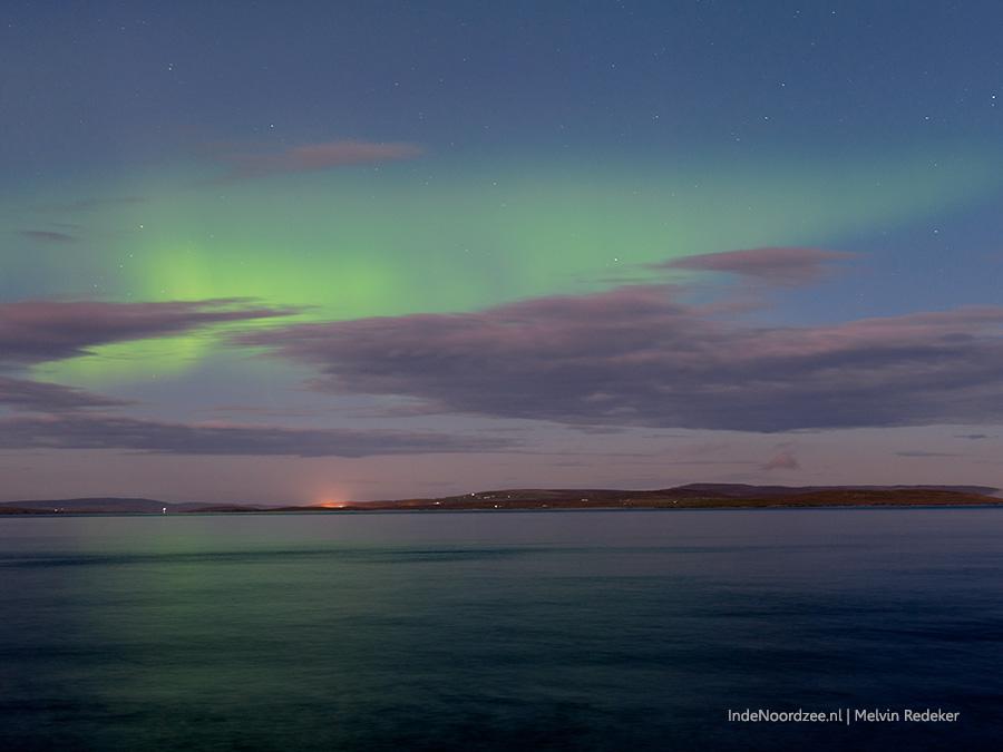 Noorderlicht boven de Noordzee