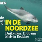 In de Noordzee op de Duikvaker beurs