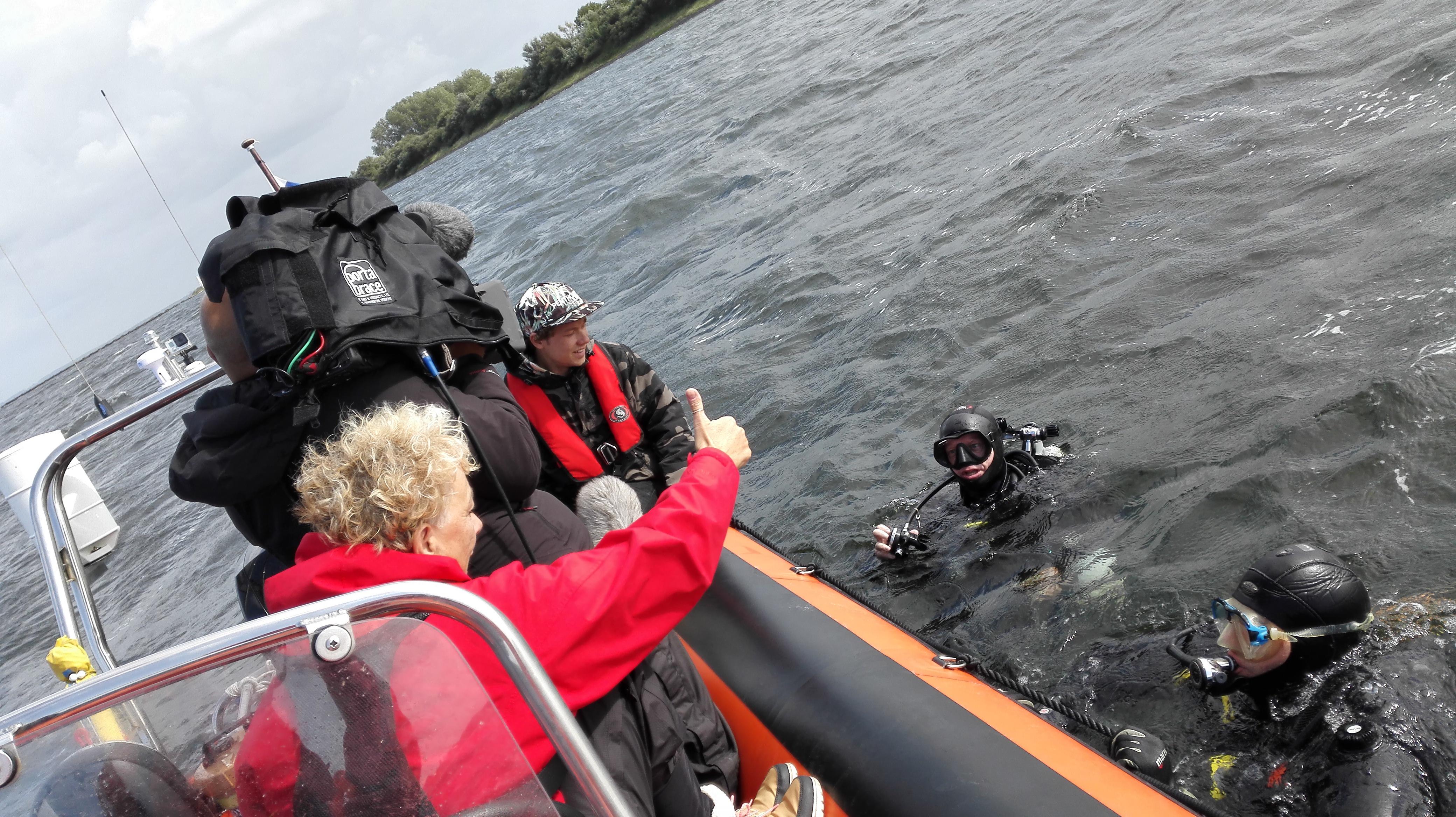Het Klokhuis duiken - In de Noordzee