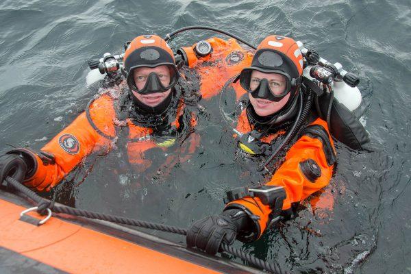Fiona van Doorn en Melvin Redeker van In de Noordzee