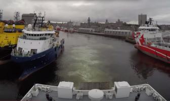 Video: met de veerboot de Noordzee op