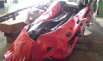 Gefrustreerd: scheur in boot nog niet gerepareerd