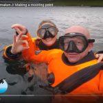 Ankerboei maken in de Noordzee