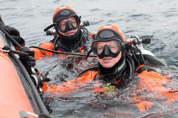 Melvin Redeker Fiona van Doorn In de Noordzee